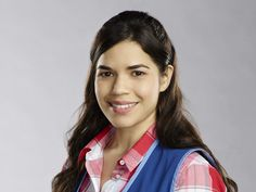 America Ferrera as Amy on Superstore.This is a hysterical show. You have TO WATCH AT LEAST ONE EPISODE.