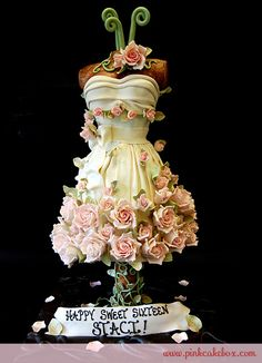 Amazing Sweet 16 Dress Cake
