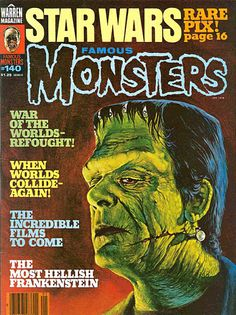 Famous Monsters of Filmland - issue #140 - 1978 - Cover painting of Glenn Strange as the Frankenstein Monster by Maelo Cintron