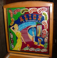 Gottlieb Alice in Wonderland pinball 1948 coin operated woodrail game