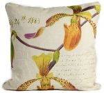 Cypripedium Orchid Pillow