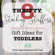 Great list of unique and educational toddler holiday gift ideas. Toddler Christmas Gifts, Kids Christmas, Holiday Gifts, Holiday Ideas, Toddler Stocking Stuffers, Christmas Stocking Stuffers, Christmas Stockings, Toddler Presents, Toddler Gifts