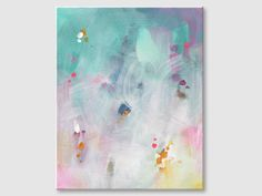 Pastel painting Turquoise painting Abstract painting Gift for Wall Art Pictures, Pictures To Paint, Rose Oil Painting, Art Easel, Turquoise Painting, Small Paintings, Online Painting, Learn To Paint, Canvas Wall Art
