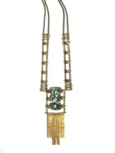 Demimonde Architectural Abalone Necklace