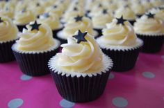 Black and white party cupcakes.