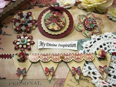 Kaisercraft Gypsy Sisters Handmade Paper Embellishments and Paper Flowers for Scrapbook Layouts Cards Tags Mini Albums and Paper Crafts
