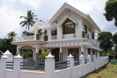 Angamaly, 8 cents plot and 2300 sq ft, beautiful house for sale in Angamaly, near Cochin Airport Indian House Exterior Design, House Fence Design, House Outside Design, Modern Exterior House Designs, Kerala House Design, House Design Photos, Bungalow House Design, House Construction Plan, Classic House Design