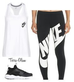 """Nike Logo"" by terra-glam ❤ liked on Polyvore featuring NIKE"