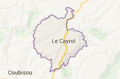 Map of le cayrol aveyron