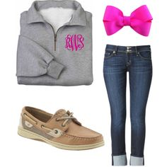 """Preppy in Pink! "" by thatpreppypost on Polyvore"