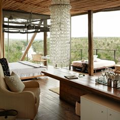Brides.com: Top 10 Resorts in Africa and the Middle East. 1. Singita Kruger National Park, South Africa On any given day, you might see elephants, hippos, and baboons — without ever setting foot in a safari jeep. Every chic suite at Singita Lebombo and Singita Sweni (the two tony safari lodges on Singita's 33,000-acre private concession within Kruger National Park) has a game-viewing deck, as well as floor-to-ceiling windows to better take in the wild, wild world outside; Singita Kruger ...