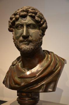 Bust of Hadrian in dark green basalt, 120 - 130 CE. (Altes Museum, Berlin)