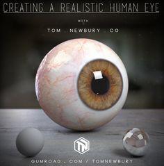 Tutorial: Creating a Realistic Eye in CG, Tom Newbury Zbrush Tutorial, 3d Tutorial, Digital Art Tutorial, Maya Modeling, Modeling Tips, Character Modeling, 3d Character, Character Design, Digital Sculpting