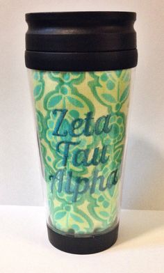 / 12oz  Zeta Tau Alpha Travel Coffee Tumbler/Mug