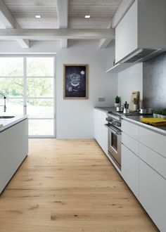 #Parquet Rovere Space, Slim 180 collection, with thickness of just 10 mm. #kitchen #oak #wood #floor #design