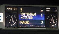Tottenham vs PAOK 1-2 Thing 1, Tottenham Hotspur, One Team, Football, Thessaloniki, Sports, Soccer, Hs Sports, Futbol
