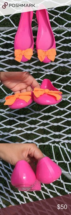 J. Crew jelly flats Worn once, in perfect condition. Adorable flats to perk up any outfit J. Crew Shoes Flats & Loafers