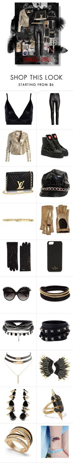 """""""Emergency--icona pop"""" by crmsonred13 ❤ liked on Polyvore featuring Boohoo, H&M, Sans Souci, Puma, Burberry, Just Cavalli, Gucci, Kate Spade, Vita Fede and Valentino"""