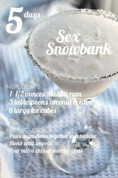 "CHRISTMAS COCKTAIL COUNTDOWN: 5 Days ""Sex on a Snowbank"" (ft. Malibu Rum)"