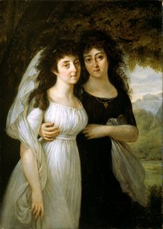 X Baron Antoine Jean Gros French, 1771-1835 Portrait of the Maistre Sisters, 1796
