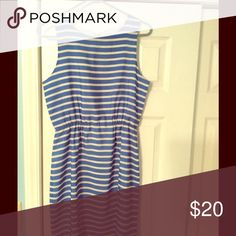 J. Crew striped dress size 6 Purchased at outlet but never worn. It's too short for my 6 foot frame. Super cute blue stripped dress. J. Crew Dresses