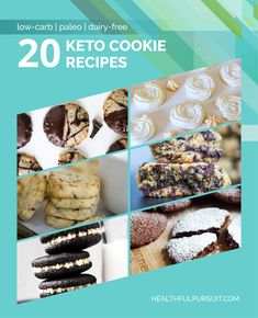 20 Keto Cookie Recipes Sometimes you just need a cookie, right? I've got 20 keto cookie recipes to satisfy your inner Cookie Monster. Low Carb Protein Bars, Protein Bar Recipes, Healthy Dessert Recipes, Keto Snacks, Low Carb Keto, Low Carb Recipes, Cookie Recipes, Keto Desserts, Keto Foods