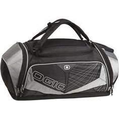 OGIO (R) Endurance 9.0 Duffel. Attention triathletes! This duffel combines the ultimate in organization, protection and comfort. Easily transforms from duffel to pack. 420 denier diamond rip stop/300 denier poly diamond rip stop/ 600 denier poly. Features fully adjustable ventilated shoulder straps, ventilated padded back panel, water-resistant 360 degree air flow wet/dry compartment, and interior molded EVA Tech Vault pocket.