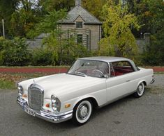 "1962 Mercedes-Benz 220SE  White exterior with ""bloody red"" interior.  The vehicular equivalent of stiletto heels."