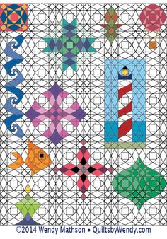 Wendy Mathson - Quilter, Lecturer, Teacher & Author - Storm at Sea Design Grids