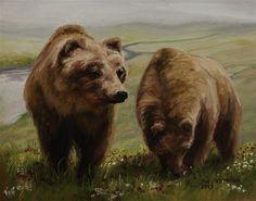 Alaskan Brown Bear - Original Fine Art for Sale - © Sue Deutscher