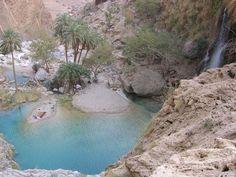 Pir Gaib an Oasis in rocky mountains of Bolan Pass between Quetta and Sibi- Balochistan -