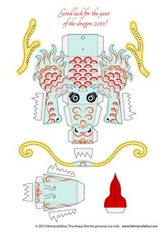 Blog_Paper_Toy_papertoy_Dragon_2012_aqua_template_preview