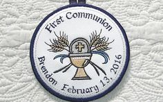 Personalized First Communion Ornament by SAshleeEmbroidery on Etsy