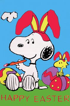 Snoopy and Woodstock Happy Easter Images Snoopy, Snoopy Pictures, Funny Pictures, Peanuts Cartoon, Peanuts Snoopy, Schulz Peanuts, Image St Valentin, Charlie Brown Und Snoopy, Snoopy Und Woodstock