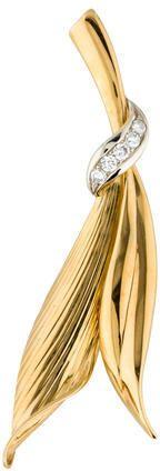 Leaf Diamond Brooch