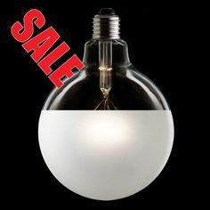 Designer Industrial Vintage Style 125mm 3/4 Frosted Globe Lamp Light Bulb 40Watt