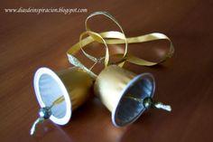 Días de Inspiración: Campanitas navideñas con cápsulas de café Nespresso.
