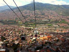 Medellin Colombia   Metrocable. Medellín, Colombia.