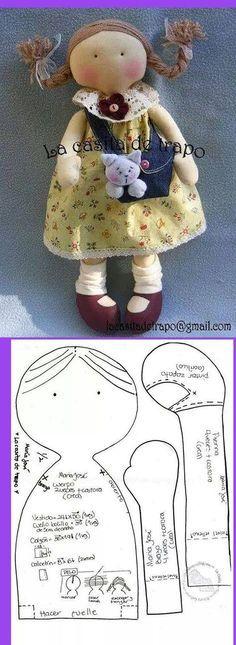 free cloth doll pattern: