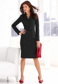 Mujer y la ropa que debe elegir para ir a trabajar - Buscar con Google Fashion Line, Suit Fashion, Fashion Outfits, Office Fashion, Work Fashion, Classy Suits, Beautiful Suit, Professional Wardrobe, Office Looks