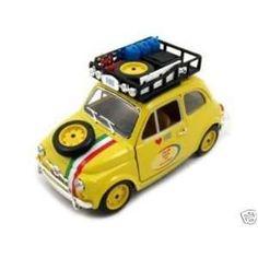Fiat 500 From Bari To Pechino 1:24 Diecast Model Car: Toys