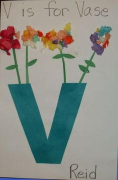 Mrs. Karen's Preschool Ideas: Vase for the letter V