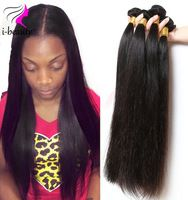 Straight Malaysian Virgin Hair 4 bundles 100% Human Hair Weaving 7A Unprocessed Virgin Hair Natural Black Hair Straight weaves