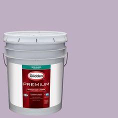 Glidden Premium 5 gal. #HDGV58D Northern Light Purple Semi-Gloss Interior Paint with Primer