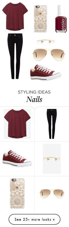 """Love this"" by soccer-tumblr on Polyvore featuring Zara, True Religion, Essie, Converse, Casetify, Ray-Ban and Express"