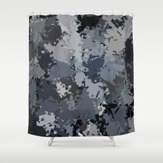 Shades of Gray Splatter Shower Curtain by Celeste Sheffey of Khoncepts - $68.00  #homedecor #graybathroom