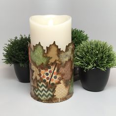 Buy Me on URCRafti.com! Flameless Candle - Fall Leaves Decoupage by Donna Braden At least Pin Me so everyone can see!
