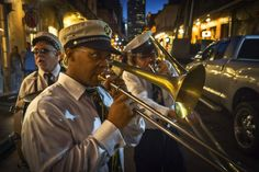 Second lines seem to break out anywhere and at any time. Royal Street. The French Quarter, New Orleans.