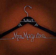 Personalized Custom Wedding Hanger via Etsy