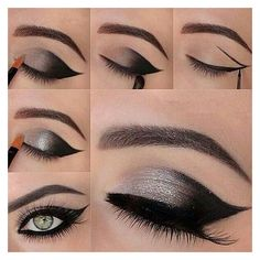 40+ Amazing Smokey Eyes Makeup Tutorials ❤ liked on Polyvore featuring beauty products, makeup, eye makeup, eyes, accessories and beauty